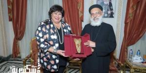 الكنيسة تكرم وزيرة الثقافة ومحافظ الاسكندرية على هامش افتتاح معرض الكتاب الدولي بإكليريكية الإسكندرية