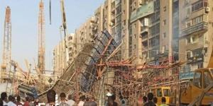 مصرع شخص وإصابة 3 في انهيار جزئي بكوبري تحت الإنشاء في الإسكندرية