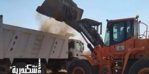 رفع 70 طن قمامة ومخلفات من شوارع حي غرب
