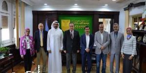 لبحث سبل التعاون بين الجانبين رئيس جامعة الإسكندرية يستقبل الملحق الثقافي الكويتي