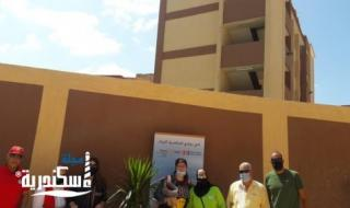 لجنة البيئة تقوم بالتشجير وتركيب القطع الموفرة لاستهلاك المياة بالتعاون مع روتارى اسكندرية كابيتال