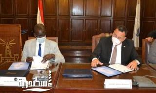 بروتوكول تعاون بين جامعة الإسكندرية وجنوب السودان لبناء جيل من القادة الرياضيين
