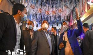 جولة محافظ الاسكندرية بشارع عين جالوت بحي مينا البصل لتفقد أعمال التجميل