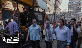 """جولة """"محافظ الإسكندرية """" لأعمال تطوير منطقة العصافرة قبلي بحي منتزة ثان"""