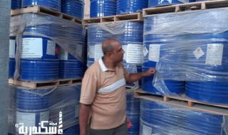 إدارة برج العرب..... تحرير محضر حيازة مواد كيماوية منتهية الصلاحية داخل مخزن تصنيع بويات