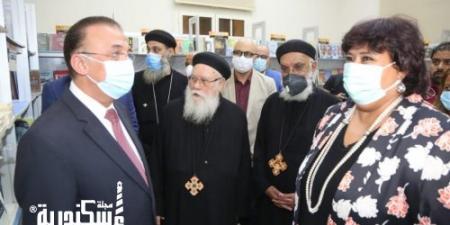 وزيرة الثقافة ومحافظ الإسكندرية يفتتحان الدورة الخامسة لمعرض الكتاب بالكاتدرائية المرقسية بالإسكندرية