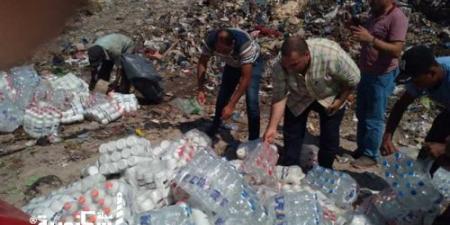 التحفظ على 3.5 ألف لتر مياه غير مطابقة للمواصفات بالإسكندرية