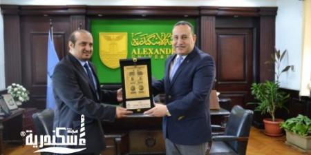 رئيس جامعة الإسكندرية يستقبل قنصل السعودية