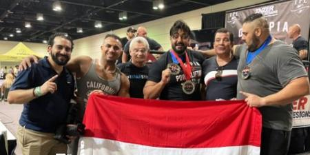 السكندري اسلام عبد المعين يخطف الذهب والفضة في بطولة مستر اولمبيا