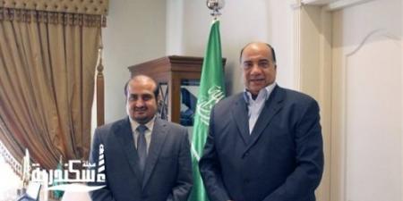 قنصل السعودية في الإسكندرية يلتقي محمد مصيلحي....ويشيد بمستوى الألعاب الرياضية بالاتحاد
