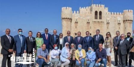 محافظ الإسكندرية يستقبل 17 سفيرا من الدول الإيبروأمريكية بقلعة قايتباي