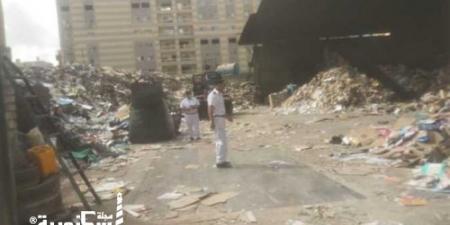 مداهمة لأوكار النباشين والفريزة في الإسكندرية والتحفظ على 8.5 أطنان خردة