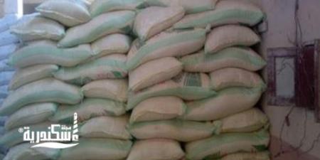 تموين  الاسكندرية.....التحفظ على أرز وفريك وعدس مجهول المصدر داخل مصنع بالعجمي