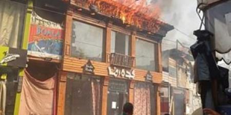 حريق يلتهم محل ملابس بميدان محطة مصر دون حدوث أي إصابات