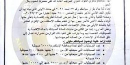 نقابة صيادلة الإسكندرية تخاطب وزارة التخطيط بشان تطبيق الحد الادني للأجور