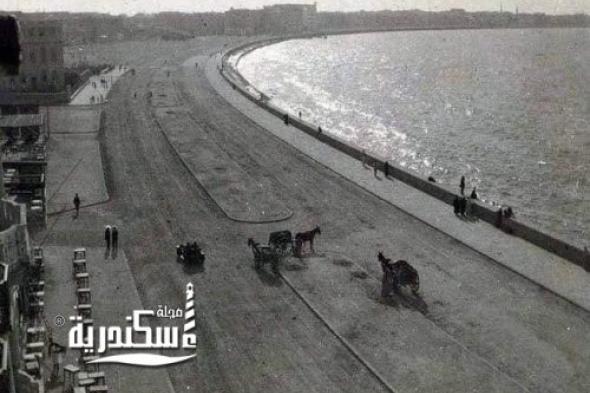 كورنيش الإسكندرية عام 1914
