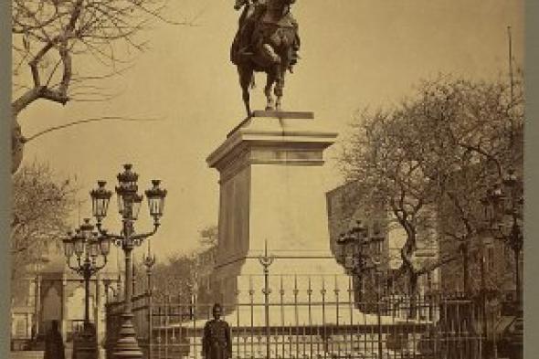 صورة نادرة لتمثال محمد على بالمنشية الاسكندرية عام 1867