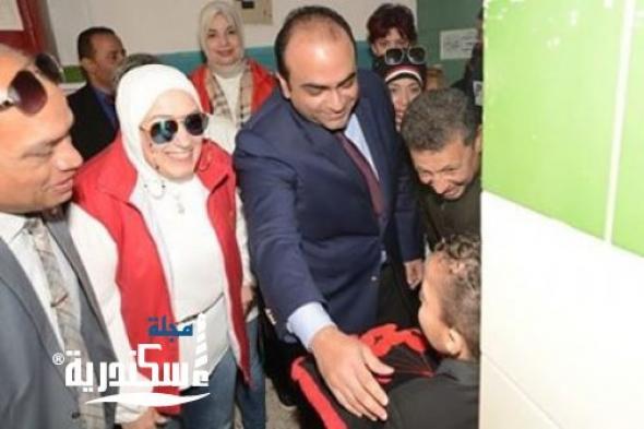 أحمد جمال و أميمة الشيخ يتفقدان فصول دمج المنطقة الروتارية بشرق الإسكندرية