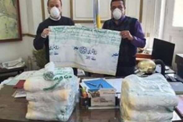 لجنة البيئة بالمنطقة الروتارية و ادى روتارى اسكندرية كابيتال يوزعان توزيع اكياس قمامة صديقة للبيئة