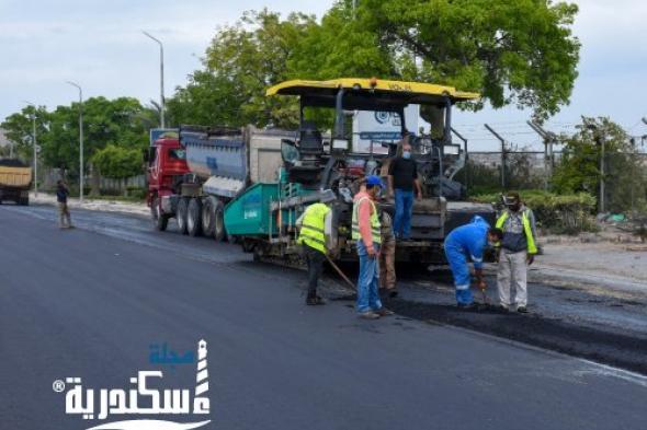 مديرية الطرق والنقل تواصل أعمال الانتهاء من رفع كفاءة الطريق الزراعي بطول 4 كيلو متر
