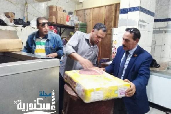 ضبط كمية كبيرة من اللحوم  مصنعة مجهولة المصدر بالإسكندرية