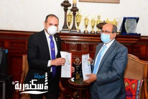 نادى روتارى اسكندرية غرب يوقع بروتوكول مع شركة مياة الشرب لتركيب وصلات للقرى