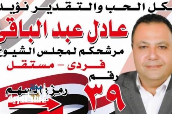 عادل عبد الباقي لعضوية مجلس الشيوخ ٢٠٢٠