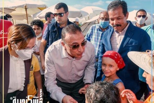 """محافظ الإسكندرية يستقبل  أطفال""""مستشفى  57357 """" بشاطيء المندرة"""