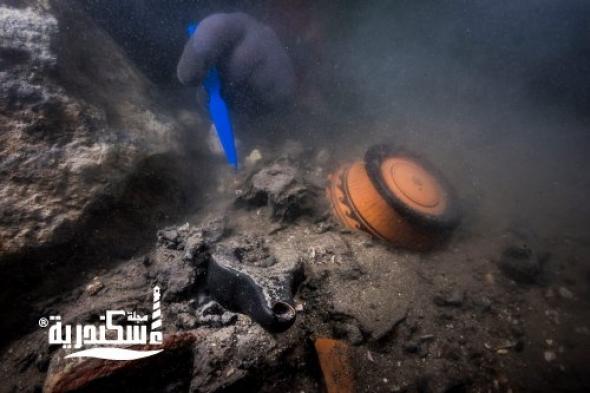 اكتشاف حطام سفينة حربية تعود للعصر البطلمى بمدينة هيراكليون الغارقة بخليج أبي قير