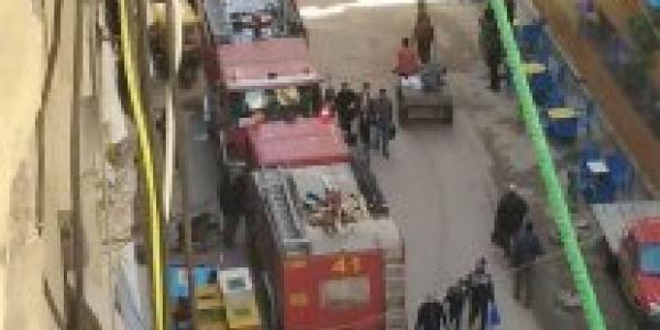 حصري حادث مؤلم داخل اسانسير بعقار بمنطقة الفلكى السيوف