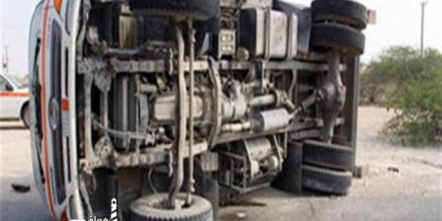 وقوع حادث تصادم ومصابين بالطريق الدائري أمام قرية أبيس الثانية بالإسكندرية