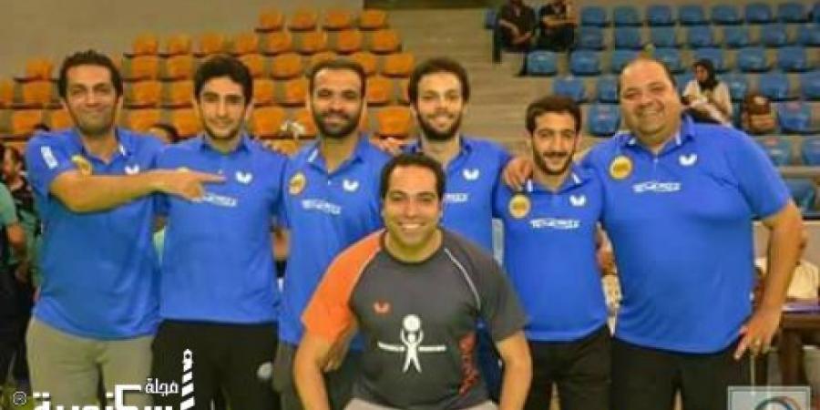 صعود الفريق الأول لتنس الطاولة رجال بنادي أصحاب الجياد فى الإسكندرية للدوري الممتاز