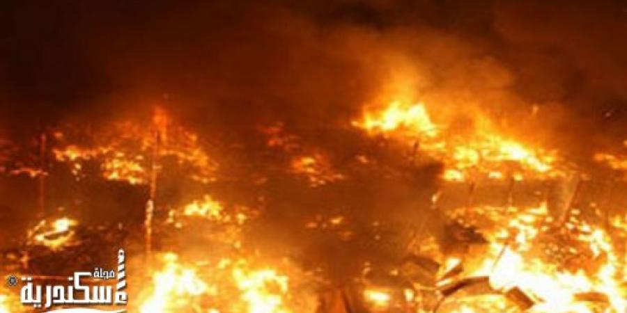 قوات الحماية المدنية بالإسكندرية تسيطر على حريق بمصنع فى الطريق الصحراوي منطقة الكيلو 28