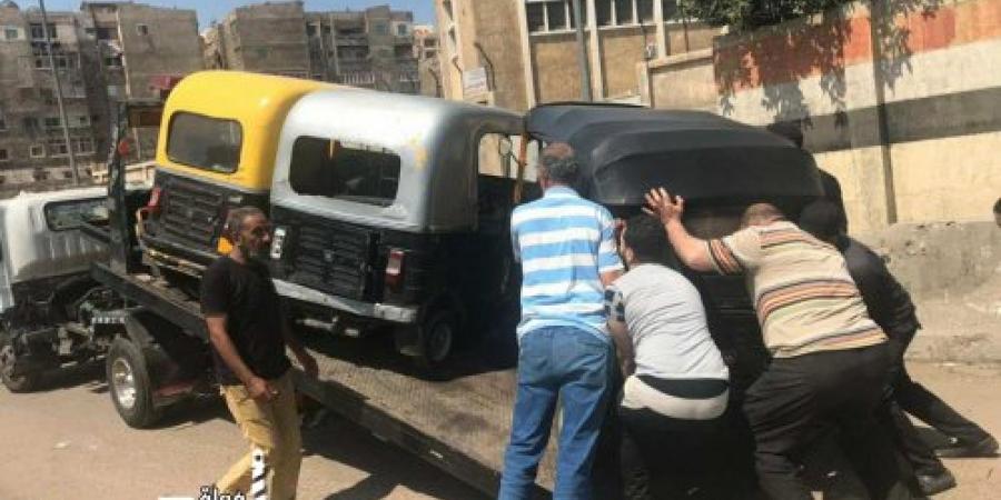 مديرية أمن الإسكندرية تقوم بحملة للقضاء على ظاهرة إستخدام مكبرات الصوت وضبط مركبات التوك توك المخالفة للقانون