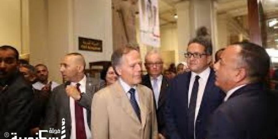 وزير الخارجية الإيطالي يزور المتحف المصري ويتفقد الآثار المكتشفة للبعثات الإيطالية في مصر