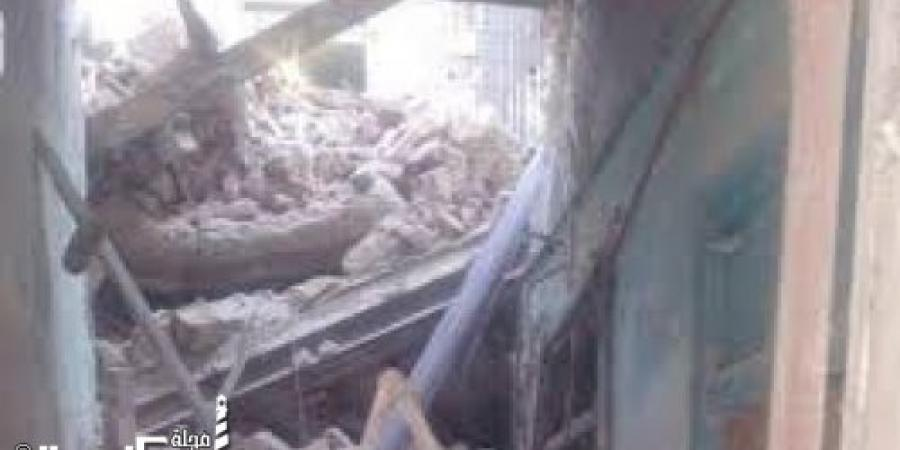 إصابة شخصين إثر انهيار سلم عقار بغربال وسط الإسكندرية