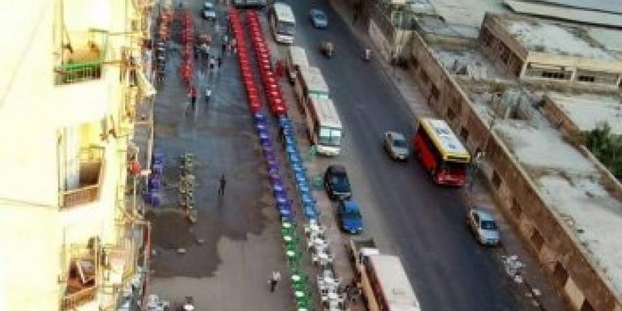 رفع كافة الإشغالات بشارع البلاسيتك فى الإسكندرية وتحرير محاضر لجميع المخالفين
