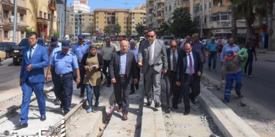 المحافظ يشدد على مسئولي هيئة النقل العام للانتهاء من المشروع خلال اسبوعين وسيتم معاقبة المقصرين