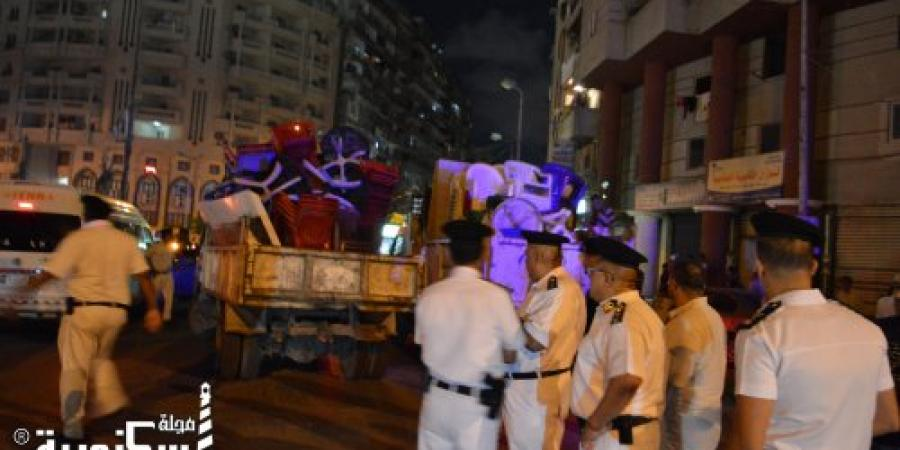 حملة أمنية بشارع إبن سلامة في الإسكندرية