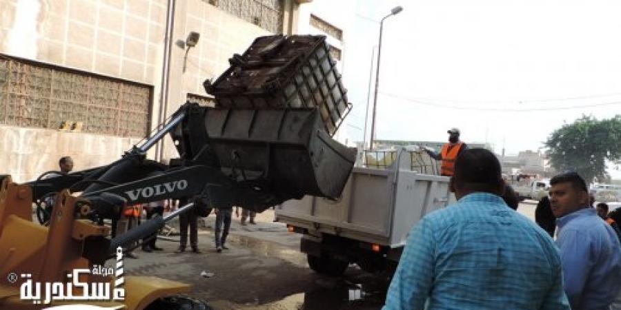 """حملة أمنية بمناطق """" غيط الصعيدي - شارع زين العابدين - أسفل كوبري محرم بك """" بالإسكندرية"""