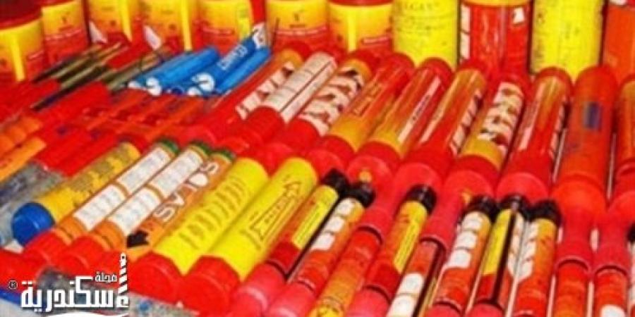 جمارك الإسكندرية تحبط محاولة تهريب 54 طنا من الألعاب النارية
