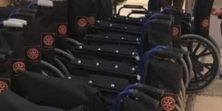 أندية الروتاري بالإسكندرية تهدي 200 كرسي متحرك لذوي القدرات الخاصه بالأقصر