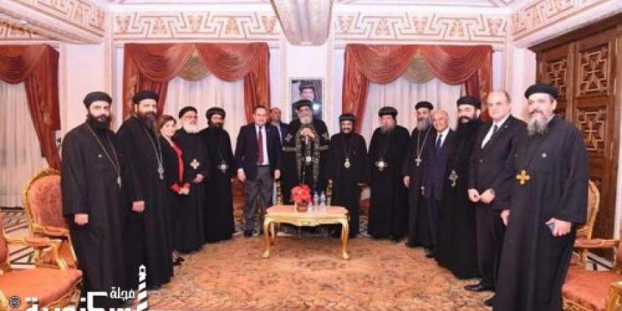 البابا تواضروس يستقبل محافظ الإسكندرية..صور