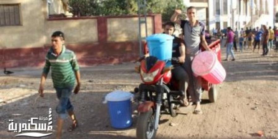 مياه الاسكندرية :قطع الخدمة عن سموحة وباكوس بسبب نقل خط رئيسى بالمحمودية