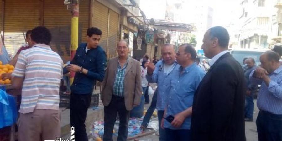 محافظة الإسكندرية تشن حملة مكبرة لإزالة اشغالات الطريق بمنطقة باكوس و شارع مصطفى