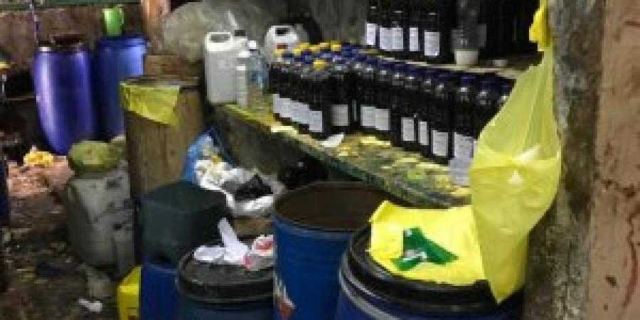 ضبط مصنع لتعبئة المواد الكيماوية بدون ترخيص