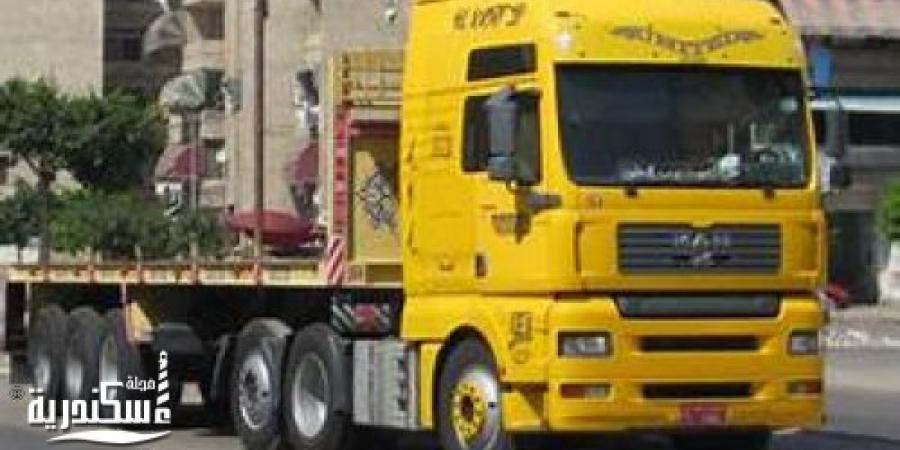 القبض على 4 مسجلين سرقوا سيارة نقل محملة ب57 طن فول صويا غرب الاسكندرية