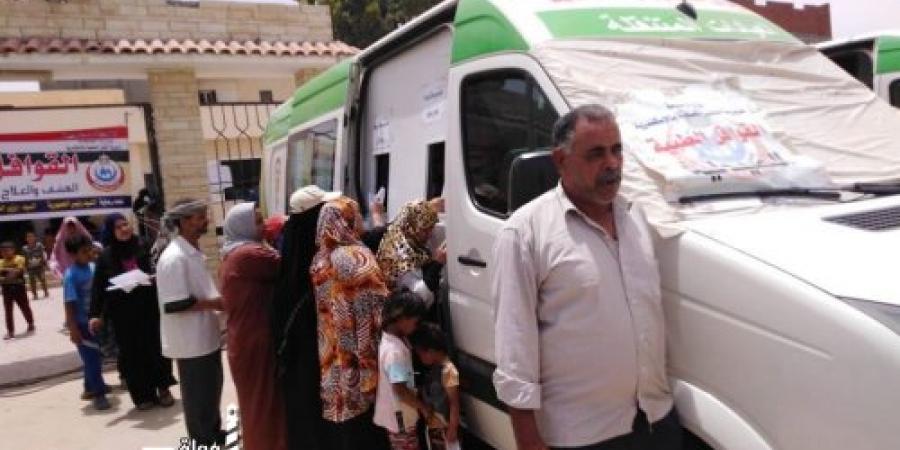قوافل الإسكندرية مستمرة وتعالج 1237مريض مجانا ببرج العرب
