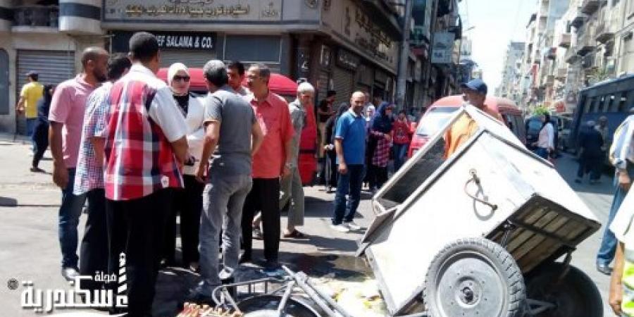 إصابة 14 شخص إثر إنفجار أنبوبة غاز صغيرة بالمنشية شارع السبع بنات