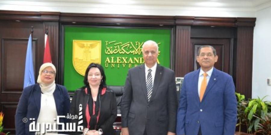 رئيس جامعة الإسكندرية يناقش مع مدير مكتب الهيئة الالمانية للتبادل الأكاديمي تعزيز سبل التعاون